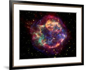 Stunning Composite Picture of Cas A,  Infrared Image from the Spitzer Space Telescope