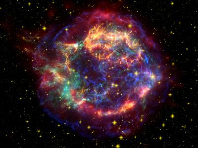 Stunning Composite Picture of Cas A,  Infrared Image from the Spitzer Space Telescope--Photographic Print