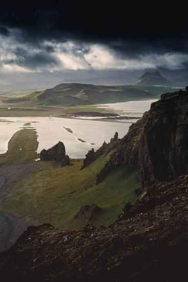 Stunning Southern Iceland Views Summer Green Storm Clouds-Vincent James-Photographic Print