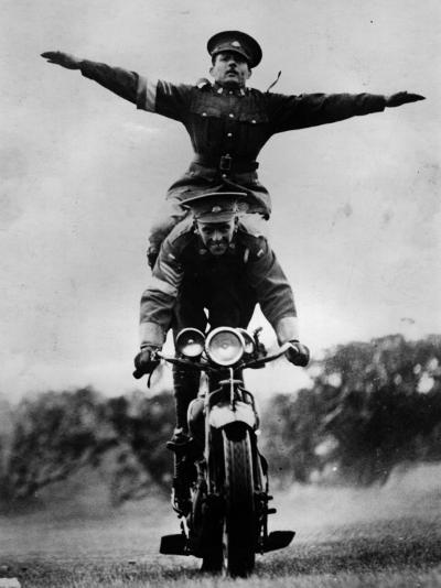Stunt Riding--Photographic Print