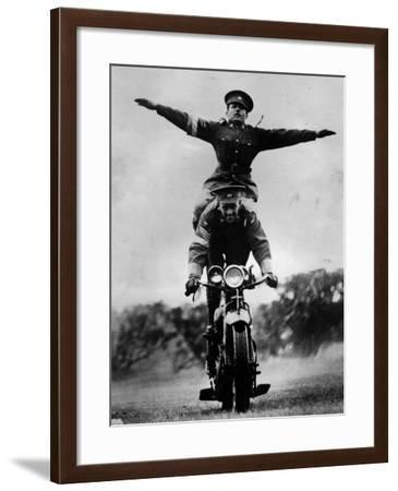 Stunt Riding--Framed Photographic Print