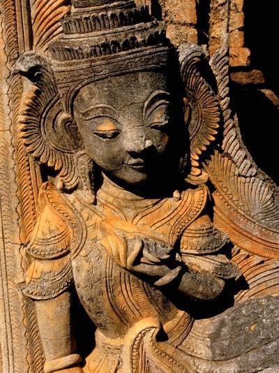 Stupa Details, Shwe Inn Thein, Indein, Inle Lake, Shan State, Bagan, Myanmar-Inger Hogstrom-Photographic Print