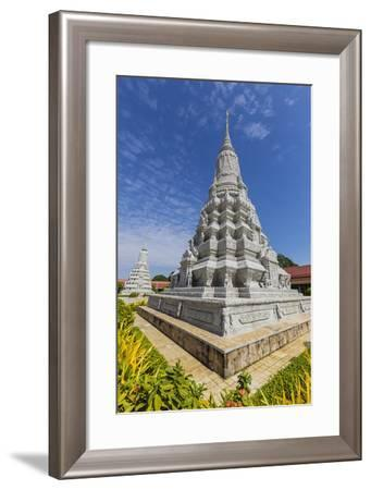 Stupa in the Royal Palace, in the Capital City of Phnom Penh, Cambodia, Indochina-Michael Nolan-Framed Photographic Print