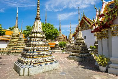 Stupas at Wat Pho (Temple of the Reclining Buddha), Bangkok, Thailand, Southeast Asia, Asia-Jason Langley-Photographic Print