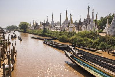 Stupas at Ywama Paya Buddhist Temple Complex, Inle Lake, Shan State, Myanmar (Burma), Asia-Matthew Williams-Ellis-Photographic Print