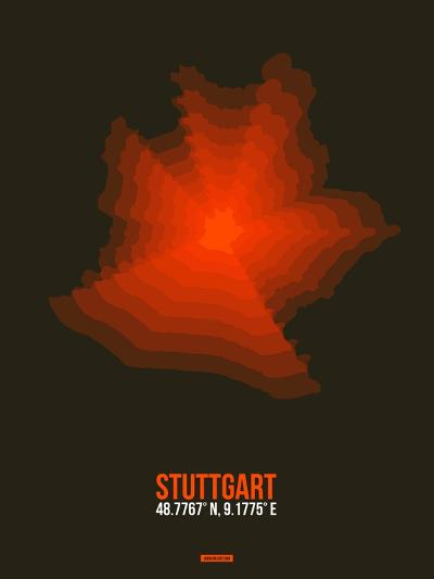 Stuttgart Radiant Map 2-NaxArt-Art Print
