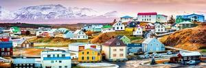 Stykkisholmur Colorful Icelandic Houses. Stykkisholmur is a Town Situated in the Western Part of Ic