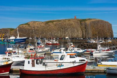 Stykkisholmur, Peninsula Snaefellsnes, Harbour-Catharina Lux-Photographic Print