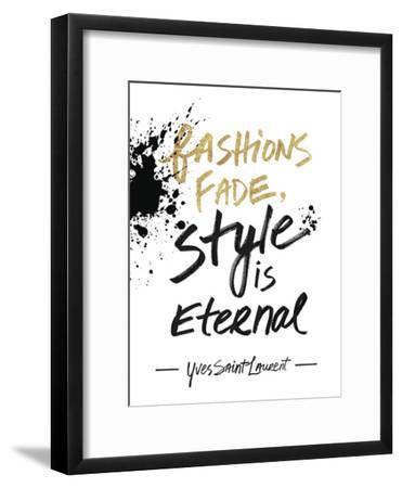Style is Eternal-Lottie Fontaine-Framed Art Print