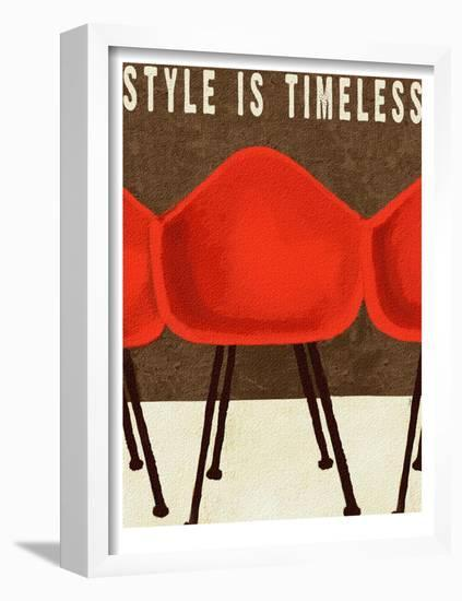 Style is Timeless Midcentury Chairs-Lisa Weedn-Framed Art Print