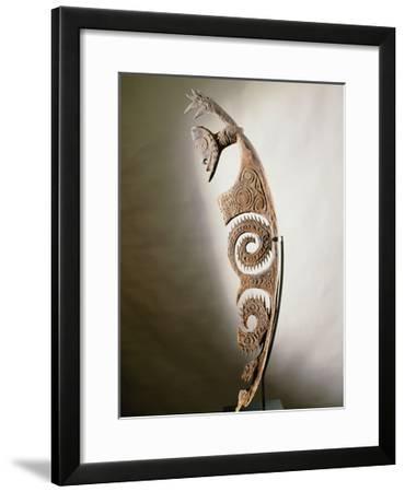 Stylised Figure of Spirit, Ewa Culture, Upper Karawari River, Sepik Region-Papua New Guinean-Framed Giclee Print