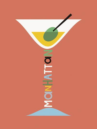 Stylish Cocktails - Manhattan-Sophie Ledesma-Giclee Print