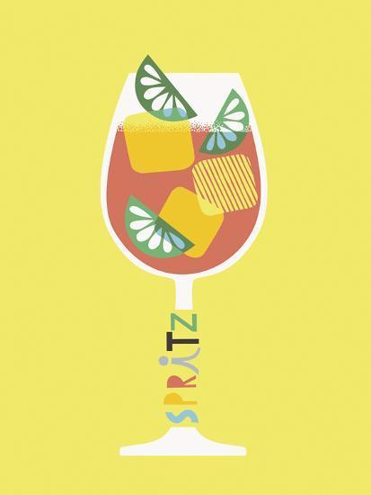 Stylish Cocktails - Spritz-Sophie Ledesma-Giclee Print
