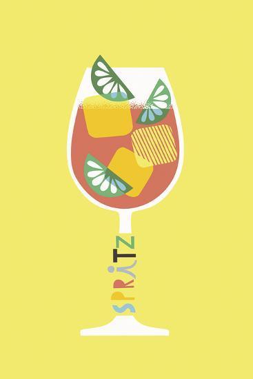 Stylish Cocktails - Spritz-Sophie Ledesma-Art Print