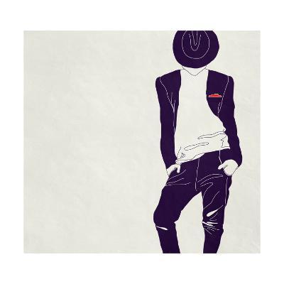 Stylish Man,, Black and White-vipa21-Art Print