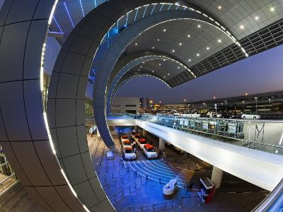 Stylish Modern Architecture of the 2010 Opened Terminal 3 of Dubai International Airport, Dubai, Un-Gavin Hellier-Photographic Print