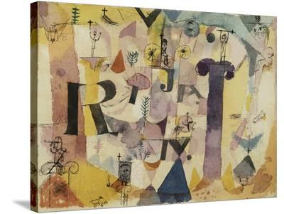 Stylish Ruins (detail)-Paul Klee-Stretched Canvas Print