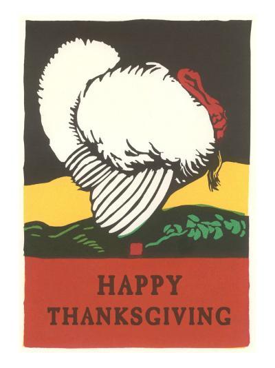 Stylish Turkey, Happy Thanksgiving--Art Print