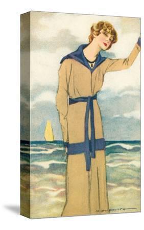 Stylish Woman by the Sea