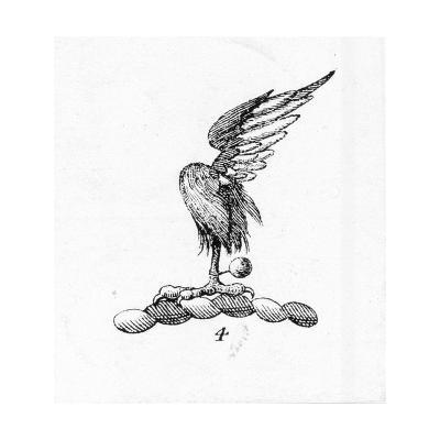 Stylized Bird Talon with Feather--Art Print
