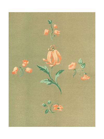 Stylized, Disconnected Orange Flower Stems--Art Print