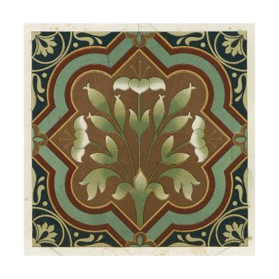 Stylized Flowering Plant in Geometric Frame--Art Print