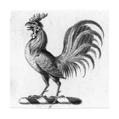 Stylized Rooster in Profile--Art Print