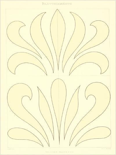Stylized Russian Fleur de Lis--Art Print