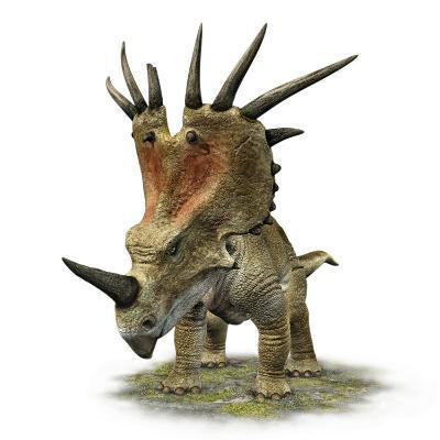 Styracosaurus with a Massive Horned Frill--Photographic Print