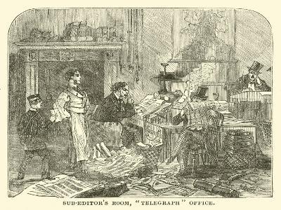 "Sub-Editor's Room, ""Telegraph"" Office--Giclee Print"