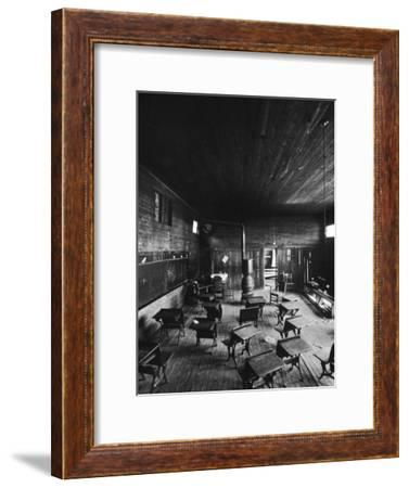 Sub Standard Grade School Classroom at African American School, the Effect of Segregation-Gordon Parks-Framed Premium Photographic Print