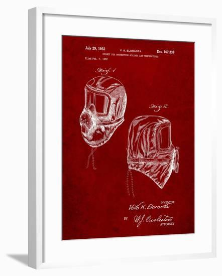 Sub Zero Mask Patent-Cole Borders-Framed Art Print