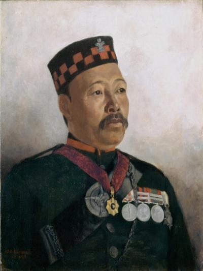 Subadar Major Judbhir Thapa, 2nd Gurkha Regiment, 1893-Gertrude Ellen Burrard-Giclee Print