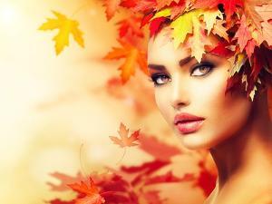 Autumn Woman Portrait by Subbotina Anna