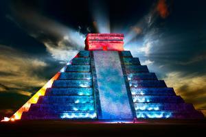 Chichen Itza Mayan Pyramid Night View by Subbotina Anna