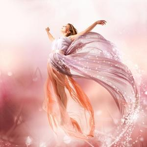 Fairy. Beautiful Girl In Blowing Dress Flying. Magic by Subbotina Anna
