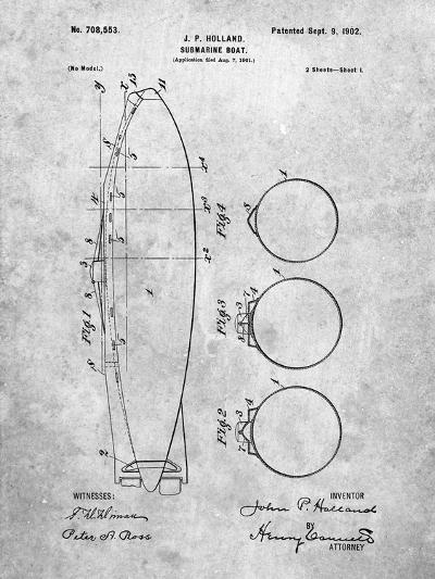 Submarine Boat Patent-Cole Borders-Art Print