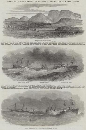 Submarine Electric Telegraph Between Newfoundland and Cape Breton--Giclee Print