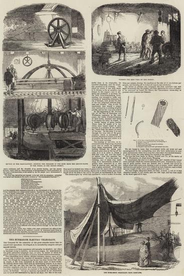 Submarine Electric Telegraph--Giclee Print