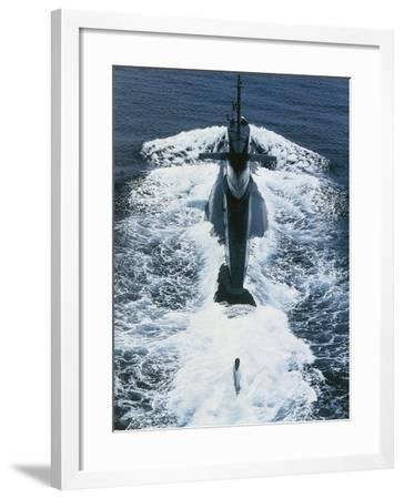 Submarine of Italian Navy Nazario Sauro at Sea. Launched in 1980--Framed Giclee Print