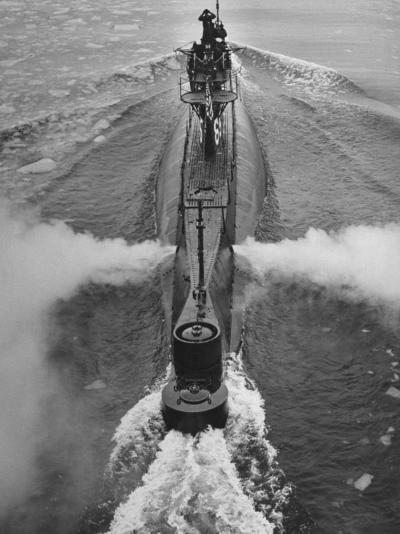 Submarine Roaring Through the Ocean-Dmitri Kessel-Photographic Print