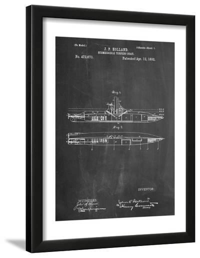 Submarine Vessel Patent--Framed Art Print