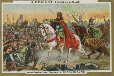 Submission of the Saxons to Charlemagne--Giclee Print