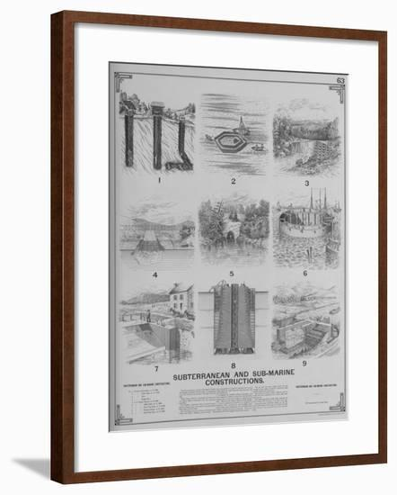 Subterranean and Sub-Marine Constructions--Framed Giclee Print