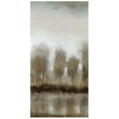 Subtle Reflection C - Free Floating Tempered Glass Panel Graphic Wall Art