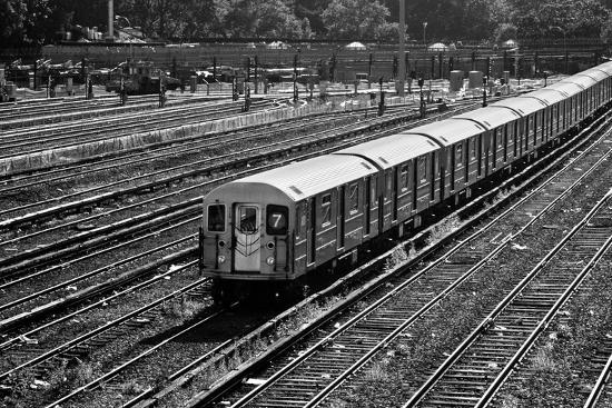Subway 7 Train Queens NYC--Photo