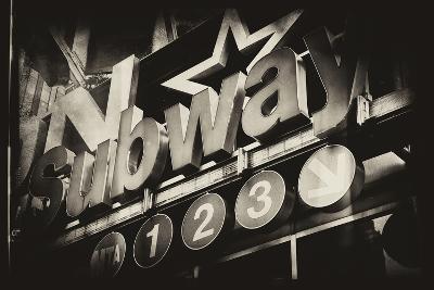 Subway and City Art - Subway Sign-Philippe Hugonnard-Photographic Print