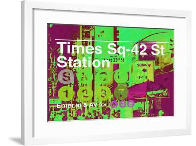 Subway and City Art - Times Square - 42 Street Station-Philippe Hugonnard-Framed Photographic Print