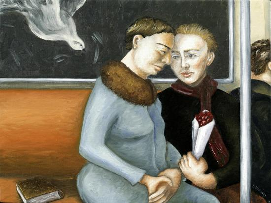 Subway Annunciation, 2006-Caroline Jennings-Giclee Print