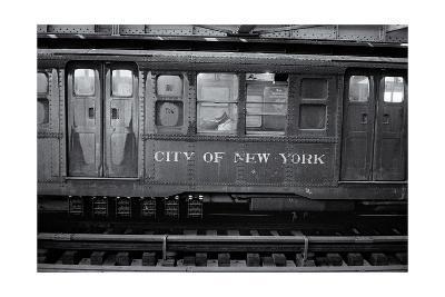Subway Car Close-Up Nyc-Henri Silberman-Photographic Print